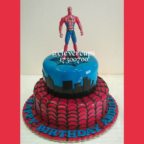 Spiderman cake design to order visit al aali branch or call