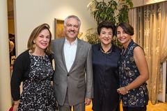 Renee Montagne, LACO board member Ahmad Gramian, LACO à la carte chair and board member Mahnaz Newman and Haleh Emrani