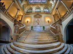 (2193) L'Ajuntament de Valncia (Fisheye world) (QuimG) Tags: architecture golden arquitectura interiors olympus fisheye interiores valncia pasvalenci specialtouch quimg ajuntamentdevalncia quimgranell joaquimgranell afcastell obresdart