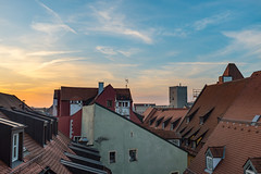 Sunset over Regensburg (Mike Nbg) Tags: city travel blue autumn roof sunset sky architecture clouds germany bayern deutschland bavaria hotel historic unesco roofs fujifilm regina regensburg altstadt oldtown dach ratisbon unescoworldheritage oberpfalz worldheritage dcher haidplatz orphee castra ratisbona lighroom hotelorphee x100s fujifilmx100s