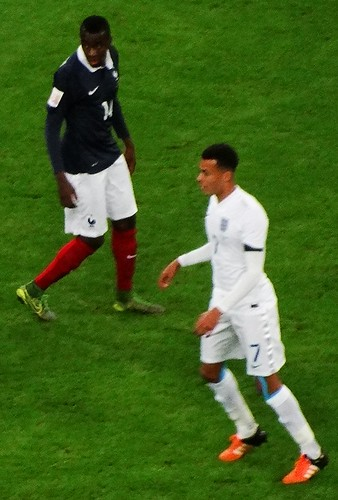 France midfielder Blaise Matuidi and England midfielder Dele Alli