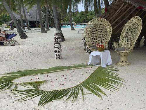 Wedding ceremony at Bora Bora