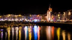 Illuminations de La Rochelle (clemmat) Tags: france illumination noel lumiere larochelle vieuxport charentemaritime toursaintnicolas deuxtours tamron1750 tamron1750f28 tamron1750mmf28 tourdelachaine tourstnicolas canoneos70d eos70d grossehorlorge