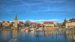 Lindau (CherryRouge) Tags: houses lake colors canon germany landscape bayern photography december view lindau visual bodensee constancelake