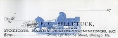 F. C. Shattuck Receipt Book Header (NeenahHistory) Tags: chicago illinois shattuck