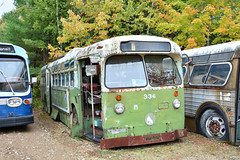 Seashore Trolley Museum #336 (Jim Strain) Tags: jmstrain trolley transit vehicle trolleybus coach tracklesstrolley seashoretrolleymuseum septa