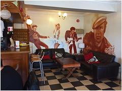 The Art of Noise.... (The Landscape Motorcyclist) Tags: elvis marilyn chuck berry marlon brando art mural airbrush 1066 cafe