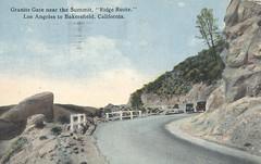 Granite Gate Near Summit - Ridge Route, California (The Cardboard America Archives) Tags: road 1922 vintage losangeles california postcard