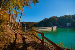 Rossens, le barrage (Meinrad Prisset) Tags: paysage lac lake lacdelagruyre barrage eau gruyre districtdelagruyre cantondefribourg automne autumn nikon nikond800 d800 irixlens captureone9