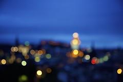 Blue Hour (chris.ph) Tags: bluehour edinburgh scotland bokeh blur light edinburghcastle sky evening canon6d ef24105mmf4lisusm abstract