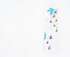Tonarino kamisama (Hachidori)  (2016) oil on canvas, ink, charcoal, coloured pencil 364x100x30mm (mayakonakamura) Tags: mayako nakamura hitomi otsuka risogama porcelain underglaze imari tokyo saga mayakonakamura tableware eatart food cooking painting collaboration art eat galleryyasutake yasutake gardencafe hachioji soloshow oil canvas semiabstract abstract oxytocin collboration green blue