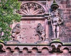 The Gate Tower Knight, Heidelberg Castle Germany (PhotosToArtByMike) Tags: heidelbergcastle heidelberggermany friedrichwing friedrichsbau interiorcourtyard heidelbergerschloss ruins faade heidelberg germany neckarriver oldtownheidelberg medieval neckarvalley badenwrttemberg europe