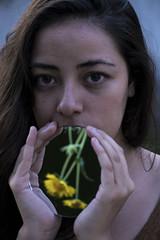 Fertility. (Shuttersouls) Tags: girl flowers fineart composition portrait fertility conceptual plant reflection