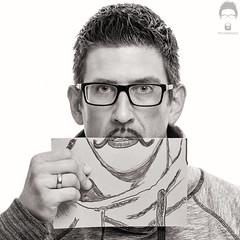 Draw a Mustache (Prozac74) Tags: canonef85mmf12liiusm canoneos5ds canonspeedlite580exii neewersoftbox neewerreflector november prozac74 yongnuospeedliteyn568exii yongnuoyn622c board bw donate drawn fullsize hairy me menshealth movember mustache pen portrait square strobist