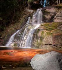 Autumn swirls on Moss Glen Falls (axsnyder) Tags: waterfall autumn leaves vermont moss glen rocks long exposure canon sugarbush granville