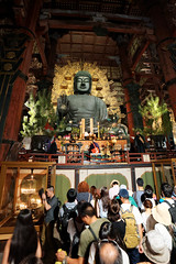 Bouddha (romain_castellani) Tags: d750 nikon dxoopticspro dxofilmpack encens japon japan religion incense nara tradition buddhism bouddhisme temple asie asia people personnes samyang14mmf28 nuit night crmonie ceremony tdaiji architecture sculpture statue art tokae