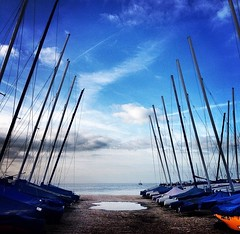 Angles (lucycooper4) Tags: kent whitstable sky boats beach sea nature