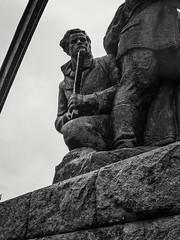 20161012-0028-Edit (www.cjo.info) Tags: bw balvan bulgaria europe europeanunion m43 m43mount microfourthirds monumenttothebattleofbalvan1944 nikcollection olympus olympusomdem10 panasonic panasonicleicadgsummilux25mmf14asph silverefexpro silverefexpro2 velikotarnovoprovince westerneurope art blackwhite blackandwhite communism communistera decay digital forgotten gun man monochrome monument people realism sculpture socialism socialistrealism software soldier statue technique