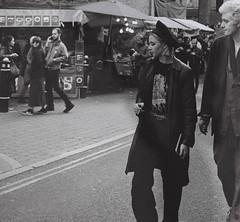Cool London Couple (erikapaige91) Tags: london bricklane woman man people street candid film pentax kodacolor portrait fashion market