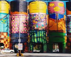 Giants by Os Gemeos (Timothy J Dultra) Tags: osgemeos granville silos vancouver biennale graffiti canada vsco lv01 olympus omd em5 1240mm f28 pro getolympus