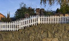 improvisation, adaptation ... HFF! (lunaryuna) Tags: england surrey waltononthames thamestowpath property fence improvisation adaptation thelonglight ddesign fencefriday hff walkinthecity lunaryuna