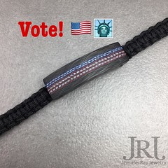 Don't forget to vote today! Special Sale Today Only!! 15% off use coupon code: vote at checkout to receive 15% off!! #vote #jrj #liberty #usa #carbonfiber #ivoted #patriot #patriotic #liberty (JenniferRay.com) Tags: instagram carbon fiber jewelry exclusive jrj jennifer ray paracord custom