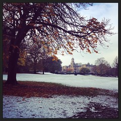 Winter arrives in Lister Park (Squatbetty) Tags: listerpark iphone snow
