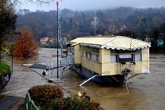 Barca Genna - poche ore prima di affondare (ikimuled) Tags: genna po alluvione piena