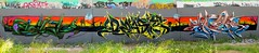 Adict - Dzast - Kezam (kezam) Tags: kezam kzm graffiti graft street art adict dzast dzastr 3dgraffiti production mural legal walls big scenery flickrgraffiti burners wd we destroy rg bt bronx team time