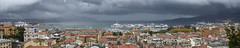 _DSF2563-Panorama (stephan.bravo) Tags: fuji fujixpro1 fujinonxf35mmf14 panorama italie ligurie laspezia toiture ciel nuages mermditerrane littoral voiliers bateaux orages villes architecture