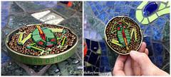 Pickled Frog (Gila Mosaics n'stuff) Tags: gilamosaics micromosaic art frog miniature picmonkey reptile