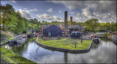 BCLM Canalside 3 (Darwinsgift) Tags: black country living museum dudley birmingham vintage antique village town canal boats architecture hdr photomatix nikon d810 28mm voigtlander color skopar f28 sl ii