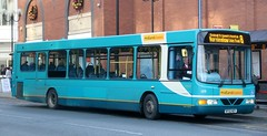 Midland Classic Buses 109 BF52NZV on New St working Burton Upon Trent local services. (Gobbiner) Tags: arriva wright daf 109 midlandclassic bf52nzv burton 3709 commander