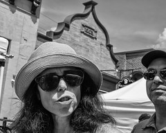 Manayunk, 2016 (Alan Barr) Tags: philadelphia 2016 manayunk street sp streetphotography streetphoto blackandwhite bw blackwhite mono monochrome candid people group panasonic gx8
