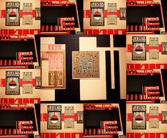 Collage avec trois photos dans la salle consacre aux arts graphiques, Stedelijk Museum, Amsterdam, Nederland (claude lina) Tags: claudelina nederland netherlands paysbas hollande amsterdam muse museum stedelijkmuseum oeuvre art graphisme