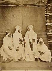 Sheykhs of western Algeria, 1865 (Benbouzid) Tags: وهران وهرن غرب الجزائر زمالة غرابة قدور بن ميلود بو علام علم شيوخ قبائل djelloul caid kaid qaid kaddour qaddur jallul miloud maylud haj hadj algeria algerie
