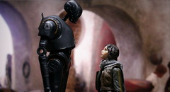 K-2SO and Jyn (kevchan1103) Tags: star wars rogue one story k2so jyn erso felicity jones hasbro black series toys action figure repaint sergeant jedha
