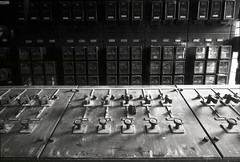 Abolished substation (threepinner) Tags: mamiya japan 50mm hokkaido 北海道 日本 universal coal press tmax100 f63 hokkaidou mikasa selfdeveloped 三笠 northernjapan sekor tmaxdeveloper 幌内 horonai 北日本 北炭