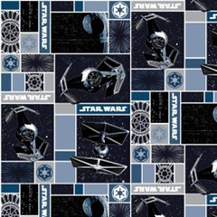 """(Camelot Cottons) Star Wars III, Imperial Ships In Blue • <a style=""""font-size:0.8em;"""" href=""""http://www.flickr.com/photos/132535894@N06/20408494439/"""" target=""""_blank"""">View on Flickr</a>"""