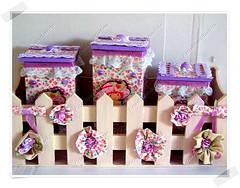 Kit De Caixinhas Para Quarto Infantil (CriarEreciclarArte) Tags: infantil fuxico tecido caixinha kitmdf