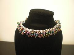 Multi-colour Polymers Bracelet (perrenialsage) Tags: dna etsy ancestors genetics molecules flaws pavopetals