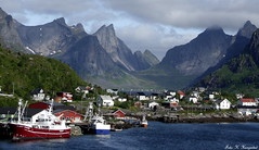 Scenic Lofoten (K. Haagestad) Tags: sea wild mountains norway scenic fishingboat lofoten reine fishingvillage nordland