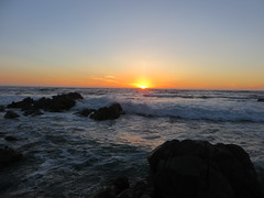 Ocean Surf at Sunset (Paul 49 55) Tags: ocean california sunset monterey surf pacific shoreline shore montereycounty pacificgrove asilomar asilomarstatebeach