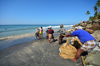 India - Kerala - Varkala - Fishermen - 18