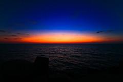 blue hour - Hertzelia beach (Lior. L) Tags: blue sunset sky beach bluehour