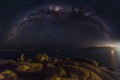 The Milky Way over Horseshoe Bay (Michael Waterhouse Photography) Tags: port stars astrophotography horseshoebay elliot southaustralia milkyway