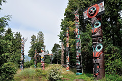 Totem Poles (J-Fish) Tags: park vancouver nativeamerican firstnations totempole stanleypark totempoles britishcolombia d300s 1685mmf3556gvr 1685mmvr