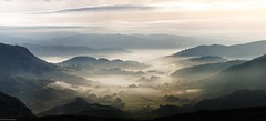 Mists Over Little Langdale Panorama (Dave Massey Photography) Tags: morning mist mountains clouds landscape dawn lakedistrict cumbria mists wrynosepass littlelangdale