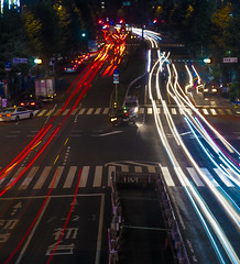 Shinjuku light trails (Filipe Madureira) Tags: longexposure light colors japan night japanese lights tokyo shinjuku colorful long colours trail lighttrail