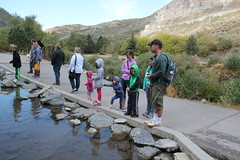 Feeding the fish 1 (Aggiewelshes) Tags: travel fish utah october lisa victor vivian bridalveilfalls olsen cailin jovie 2015 provocanyon jalila